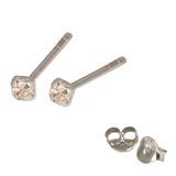 Silver Crystal Studs ST11 - ST12 - ST13 - Claw Set Crystal clear / ST11. Claw set. 1.5mm jewel