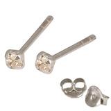 Silver Crystal Studs ST11 - ST12 - ST13 - Claw Set Crystal clear / ST13. Claw set. 2.5mm jewel
