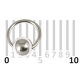 Sterling Silver Hoops - Earrings H21-H24A H24a:- Gauge 0.7mm. Internal Diameter 4mm. (1 PAIR)