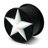Silicone Star Plug 12 / White star