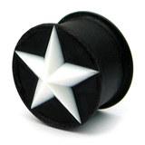 Silicone Star Plug 16 / White star