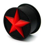 Silicone Star Plug 14 / Red star