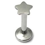 Steel Internally Threaded Star Labrets 1.2mm 1.2 / 10