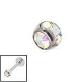 Steel Multi-gem Jewelled Ball 1.2mm Crystal AB
