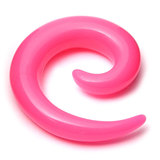 Acrylic Neon Spiral Stretchers 8mm / Pink