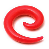 Acrylic Neon Spiral Stretchers 10mm / Red