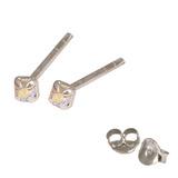 Silver Crystal Studs ST11 - ST12 - ST13 - Claw Set Crystal AB / ST11. Claw set. 1.5mm jewel