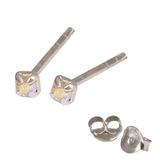 Silver Crystal Studs ST11 - ST12 - ST13 - Claw Set Crystal AB / ST12. Claw set. 2.0mm jewel