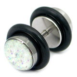 Steel Sparkle Fake Plug 1.2mm, 5mm, 6mm, Crystal AB