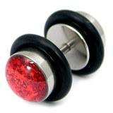 Steel Sparkle Fake Plug 1.2mm, 5mm, 6mm, Red