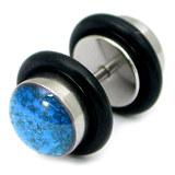 Steel Sparkle Fake Plug 1.2mm, 5mm, 8mm, Blue