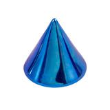 Titanium Cones 1.2mm, 3mm, Blue