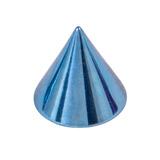 Titanium Cones 1.2mm, 3mm, Ice Blue