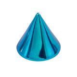 Titanium Cones 1.2mm, 3mm, Turquoise