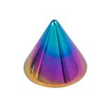Titanium Cones 1.2mm, 3mm, Rainbow