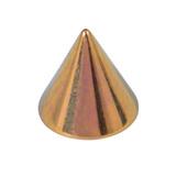 Titanium Cones 1.2mm, 3mm, Gold