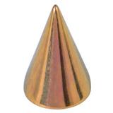 Titanium Cones 1.6mm, 6mm, Gold