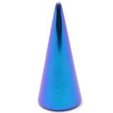 Titanium Cones 1.6mm, 10mm, Turquoise