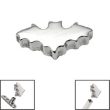 Steel Bat Top for Internal Thread shafts in 1.6mm (1.2mm). Also fits Dermal Anchor Bat