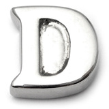 Steel Threaded Attachment - 1.6mm Cast Steel Alphabet 1.6 / Letter D  (1.6mm) (casting only)