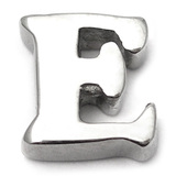 Steel Threaded Attachment - 1.6mm Cast Steel Alphabet 1.6 / Letter E  (1.6mm) (casting only)
