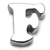 Steel Threaded Attachment - 1.6mm Cast Steel Alphabet 1.6 / Letter F  (1.6mm) (casting only)