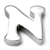 Steel Threaded Attachment - 1.6mm Cast Steel Alphabet 1.6 / Letter N  (1.6mm) (casting only)