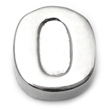 Steel Threaded Attachment - 1.6mm Cast Steel Alphabet 1.6 / Letter O  (1.6mm) (casting only)