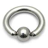 Titanium BCR 2.5mm Large Gauge (Ball Closure Ring) 2.5mm, 12mm (5mm ball)
