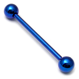 Titanium Barbell 1.6mm 18-28mm 24mm, 5mm, Blue