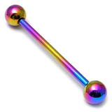 Titanium Barbell 1.6mm 18-28mm 28mm, 5mm, Rainbow