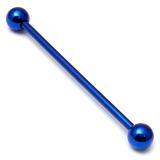 Titanium Industrial Scaffold Barbell 1.6mm 30-46mm 32mm, 5mm, Blue