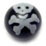 Acrylic Jolly Roger Ball 1.6mm, 6mm