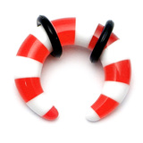 Acrylic Candy Crescent Stretchers 6 / red