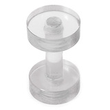 Acrylic Screw Flesh Tunnel 2-8mm 2 (no hole down middle) / uv clear