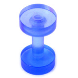 Acrylic Screw Flesh Tunnel 2-8mm 2mm (no hole down middle), Blue