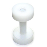 Acrylic Screw Flesh Tunnel 2-8mm 2 (no hole down middle) / white