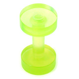 Acrylic Screw Flesh Tunnel 2-8mm 2 (no hole down middle) / uv green