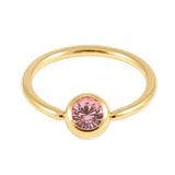 Gold Plated Steel Jewelled BCRs light_pink / 12 / 1.6