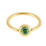 Gold Plated Steel Jewelled BCRs light_green / 12 / 1.6