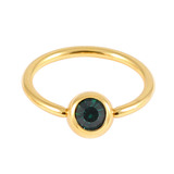 Gold Plated Steel Jewelled BCRs dark_green / 12 / 1.6