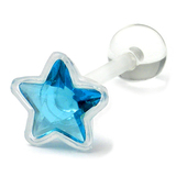 PTFE Crystal Star Tongue Bar Lt.Blue