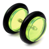 Acrylic Fake Plugs Green / Large - 8mm diameter Disks