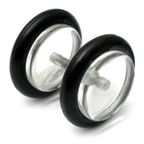 Acrylic Fake Plugs Clear / Large - 8mm diameter Disks