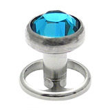 Titanium Skin Diver Wheel - Jewelled 1.5mm / Turquoise