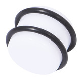 Acrylic Plug 12-24mm 24mm, White
