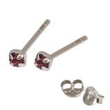 Silver Crystal Studs ST11 - ST12 - ST13 - Claw Set Purple / ST12. Claw set. 2.0mm jewel