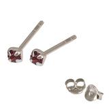 Silver Crystal Studs ST11 - ST12 - ST13 - Claw Set Purple / ST11. Claw set. 1.5mm jewel