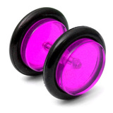 Acrylic Fake Plugs Purple / Medium - 6mm diameter Disks