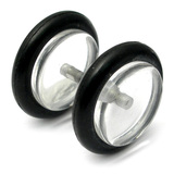 Acrylic Fake Plugs Clear / Medium - 6mm diameter Disks